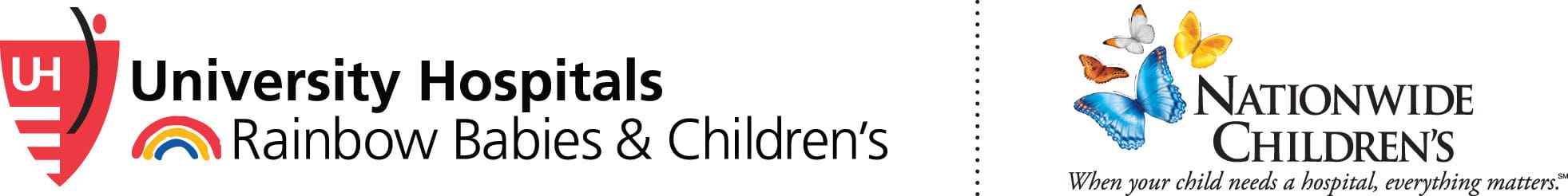 UH Rainbow and Nationwide Children's Hospital logo